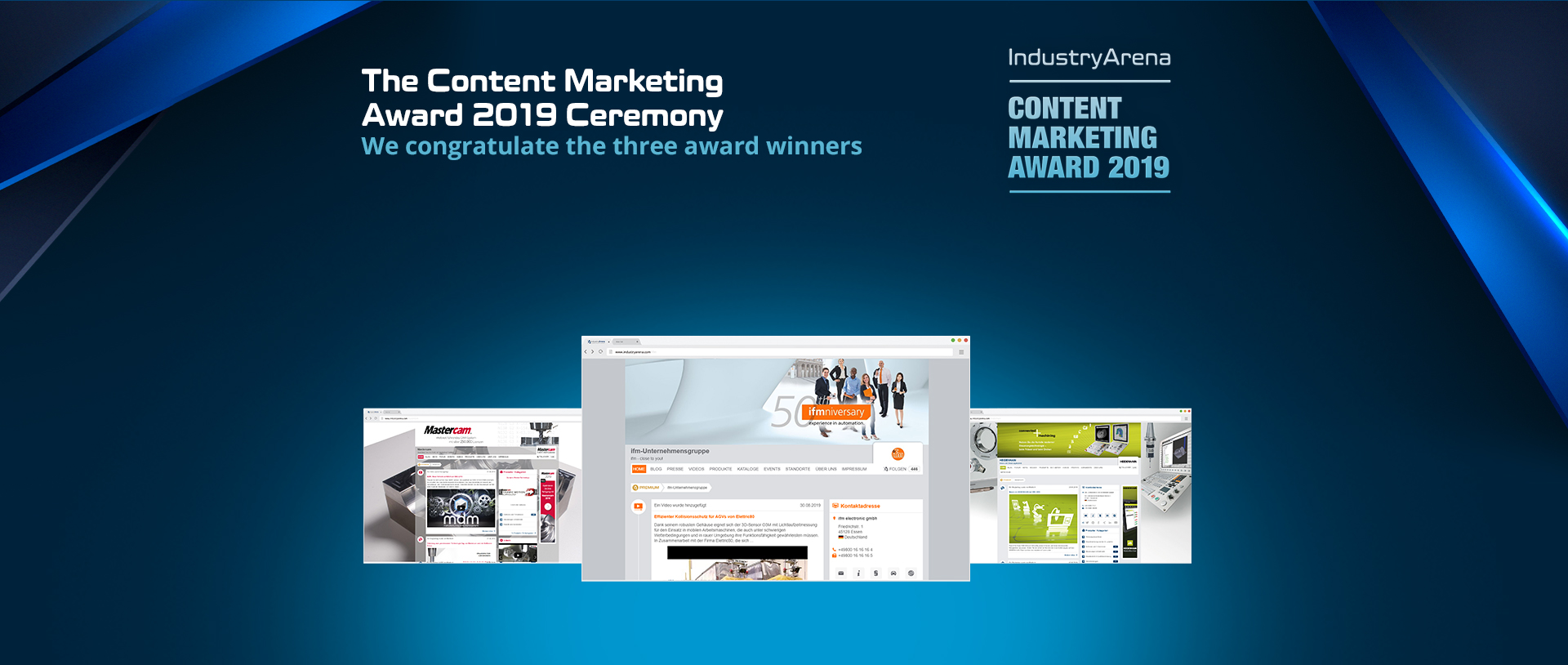 Congratulations to the three Content Marketing winners in 2019