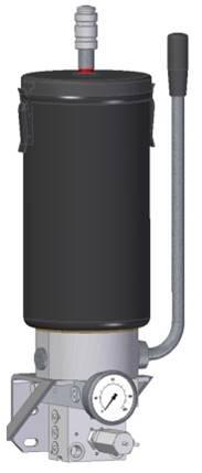 Manuelle doppelt wirkende Pumpe für Schmierfette mit Reservoir und Inverter