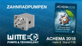 WITTE PUMPS & TECHNOLOGY GmbH auf der ACHEMA 2018 - Halle 8 Stand F38