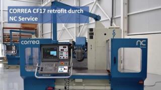 Retrofit durch NC Service: Die CORREA CF17 Fräsmaschine