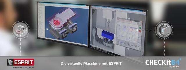 Die virtuelle Maschine mit ESPRIT auf der AMB 2018