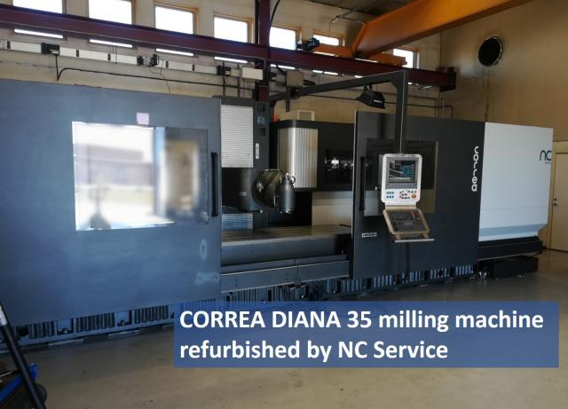 Sale of the CORREA Diana35 milling machine in Sweden! NC Service