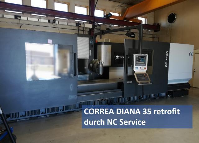 CORREA Diana 35 Fräsmaschine geht nach Schweden