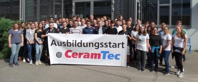 Ausbildungsstart bei CeramTec
