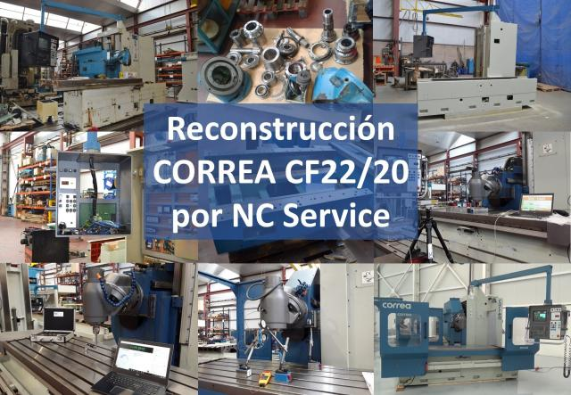 Fresadora Correa CF22/20 reconstruida con éxito por Nicolás Correa Service