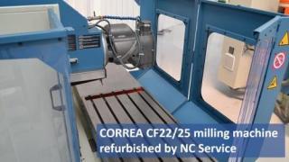 We show you a CORREA milling machine refurbished by Nicolás Correa Service under power