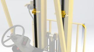 Cilindros de mástil en carretillas elevadoras hidráulicas