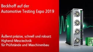 Beckhoff auf der Automotive Testing Expo 2019