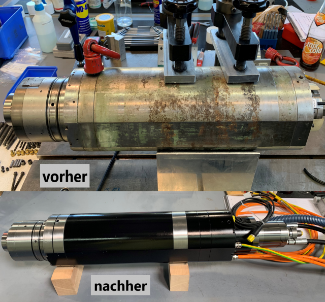 Reparatur einer Kessler DMS 080 HSK 63