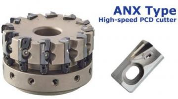 High-efficiency PCD milling cutter ANX type for aluminum alloys