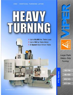 Vertical Turning Lathe VTL-Series