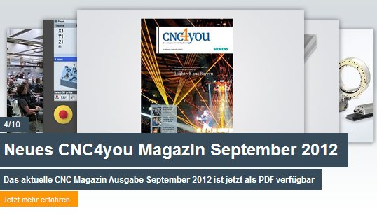 Neues CNC4you Magazin September 2012