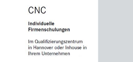 Inhouse - CNC Schulung
