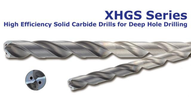 Tooling News: XHGS-Series - High efficiency solid carbide drills for deep hole drilling