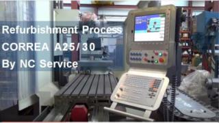 Do you know how the refurbishment process is in a Correa A25/30 milling machine?