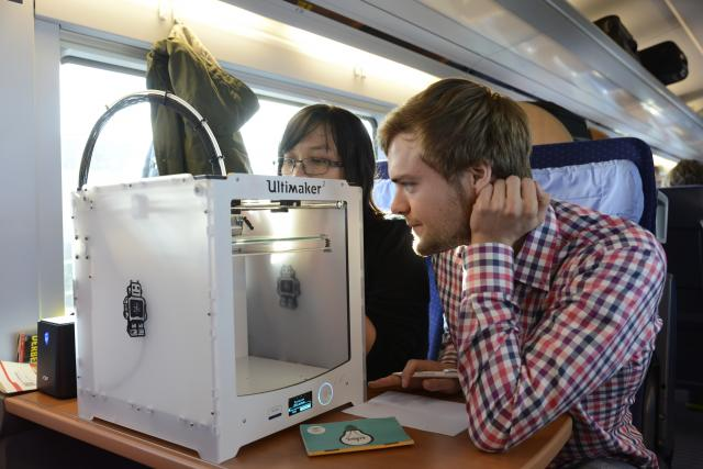 3D-Druck on the road: im ICE Komponenten ausdrucken