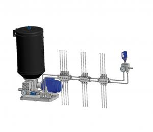 Double-line lubrication system