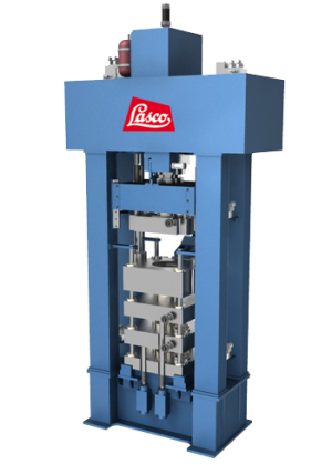 Hydraulic powder metal press