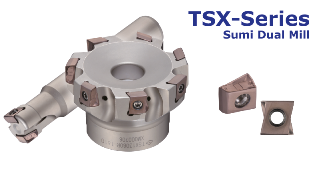 SumiDual Mill TSX-Series - Tangential shoulder milling cutter