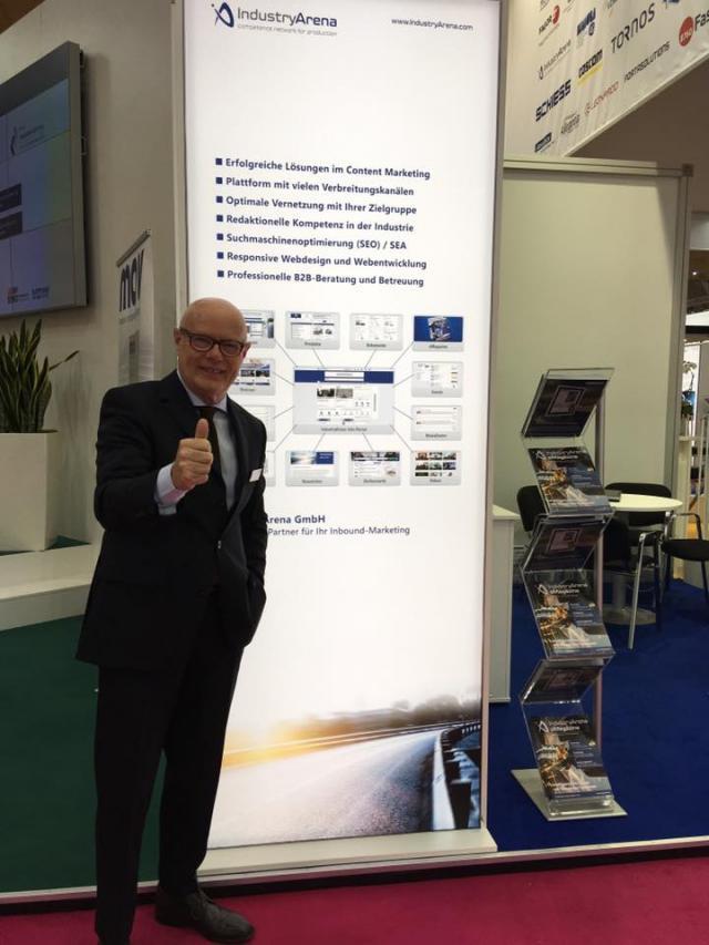 El team de IndustryArena en la EMO Hannover