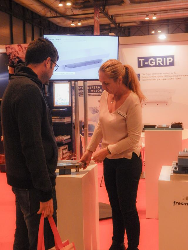 Nationwide presentation of F-Grip at Metalmadrid
