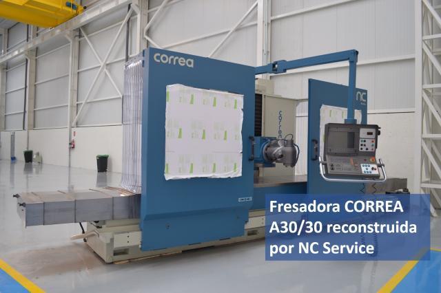 La fresadora CORREA A30/30 ha finalizado su reconstrucción en NC Service