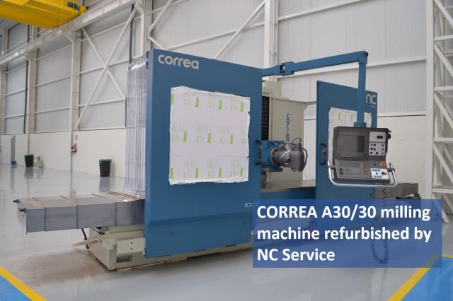 CORREA A30/30 milling machine already refurbished by NC Service