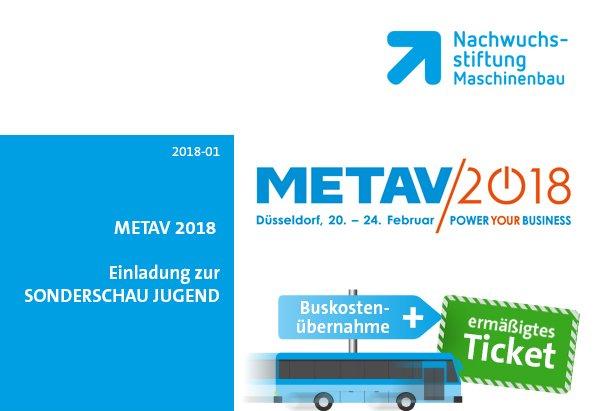 METAV 2018 in Düsseldorf | Buskostenübernahme + vergünstigte Eintrittskarten für Ihre Klasse!
