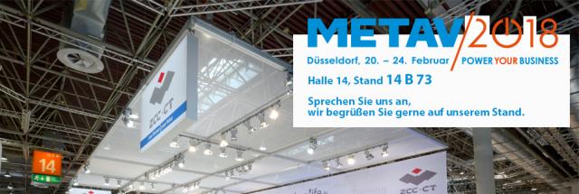 Besuchen Sie uns auf der METAV 2018
