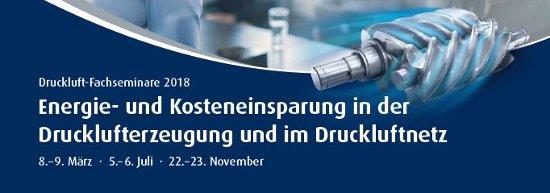 Nur noch wenige Plätze verfügbar: Druckluft-Fachseminar am 8.-9. März 2018