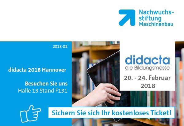 didacta 2018 in Hannover | Sichern Sie sich Ihre kostenlose Eintrittskarte!