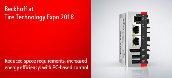 Beckhoff at Tire Technology Expo 2018