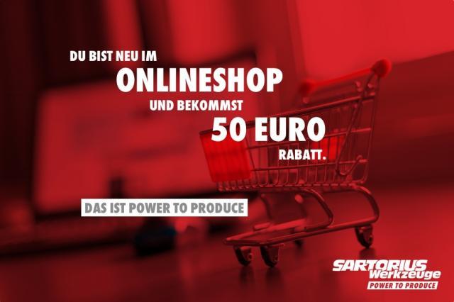 Im Onlineshop registrieren und Gutschein sichern!