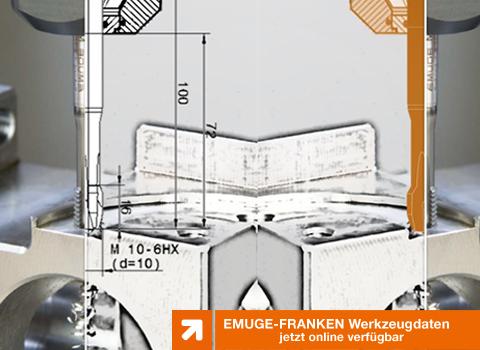 EMUGE-FRANKEN Werkzeugdaten jetzt online verfügbar