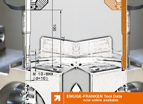 EMUGE-FRANKEN Tool Data now online available