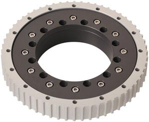 iglidur® PRT slewing ring bearing with toothed outer ring