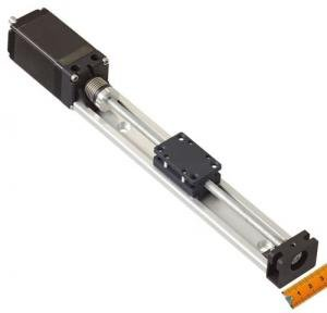 Low profile linear axis with and without motor