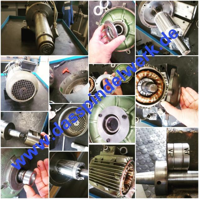 Reparatur einer kleinen GMN Motorspindel