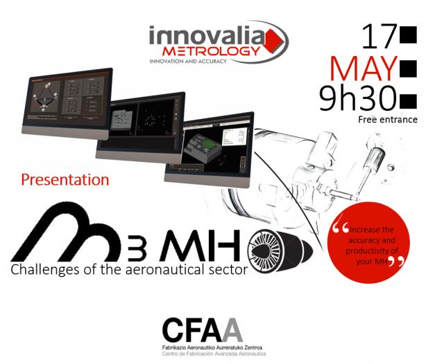 Innovalia Metrology präsentiert M3MH, die Messtechnik-Lösung für Anforderungen der Luftfahrtbranche