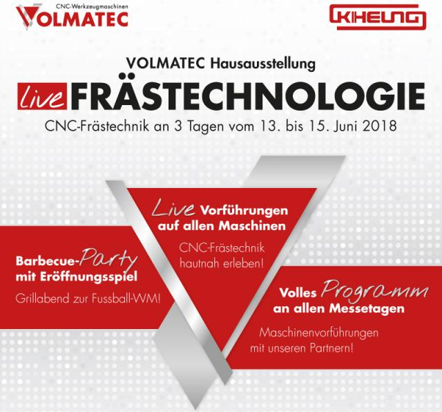 VOLMATEC Hausausstellung am 13. bis 15. Juni 2018