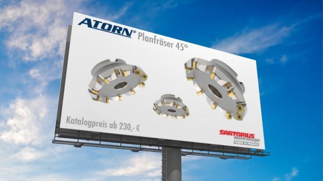 ATORN – Planfräser 45°