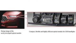 Mitsubishi Electric Unveils Optical Module for LED Headlights in Smart Mobility Age