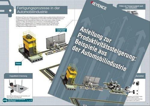 Neuer KEYENCE-Leitfaden: Beispiele zur Produktivitätssteigerung in der Automobil- und Metallindustrie