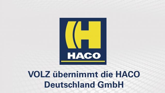 VOLZ übernimmt die HACO Deutschland GmbH!