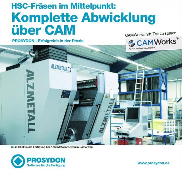 CAMWorks Anwenderbericht: HSC-Fräsen im Mittelpunkt: Komplette Abwicklung über CAM