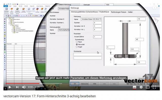 Neues Video online: Form-Hinterschnitte 3-achsig bearbeiten