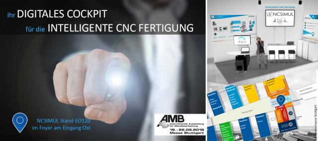 Intelligente CNC Fertigung auf der AMB 2018: Sie können uns nicht verpassen!