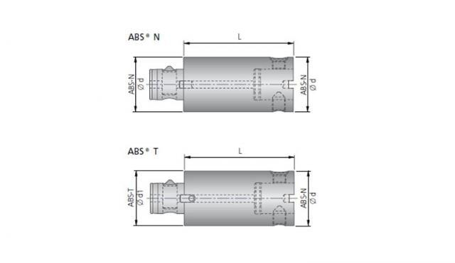Verlängerung mit ABS® N / ABS® T Anbindung