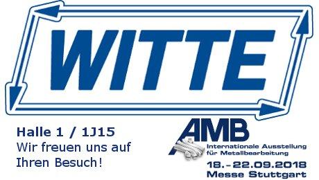 Witte auf der AMB 2018: Halle 1 / 1J15
