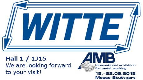 Witte at AMB 2018: Hall 1 / 1J15